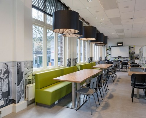 Maatwerk interieur leslokaal han food and business nijmegen